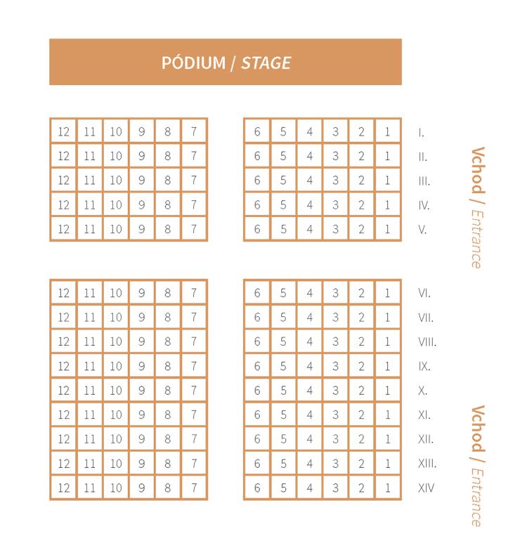 Slovenská filharmónia plán sedadiel – Malá sála