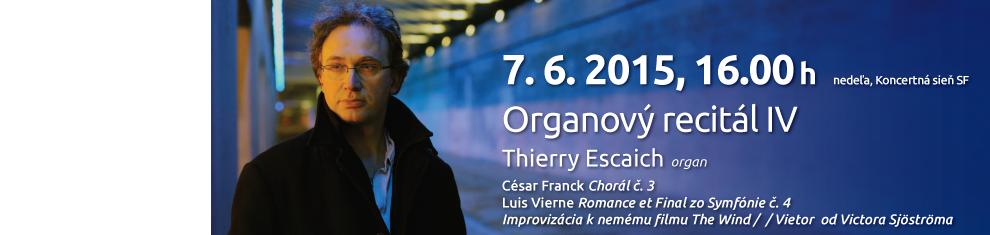 Organový recitál IV. – Thierry Escaich