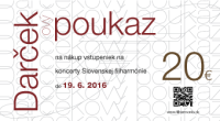 Slovenska filharmonia darcekovy poukaz 20152016