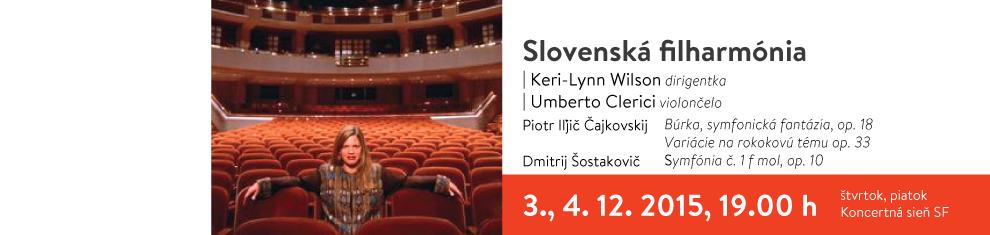 Slovenská filharmónia, Keri-Lynn Wilson, Umberto Clerici, Čajkovskij, Šostakovič