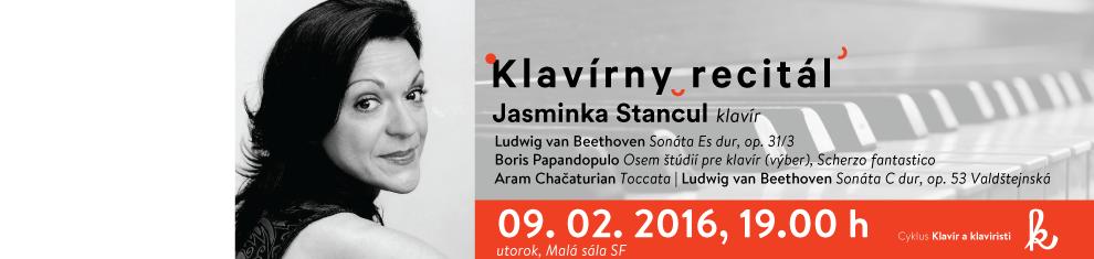 Klavírny recitál II. – Jasminka Stancul