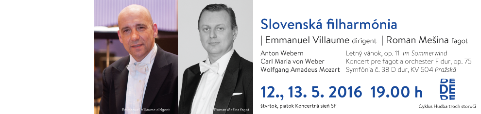 12. 5. 2016 Webern, Weber, Mozart