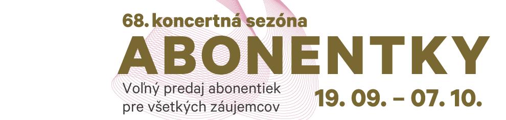 Abonentky 68. koncertná sezóna 2016/2017