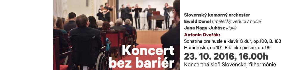 23. 10. 2016 Koncert bez bariér