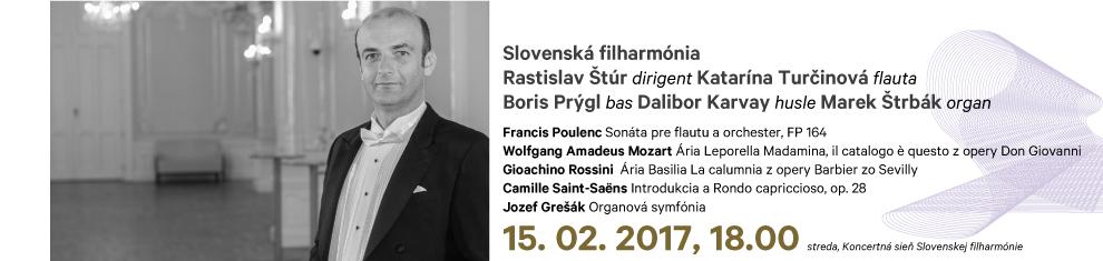 15. 02. 2017 Poulenc Mozart Rossini Saint-Saëns Grešák