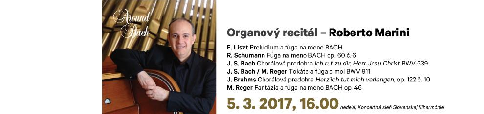 05. 03. 2017 Organový recitál Roberto Marini