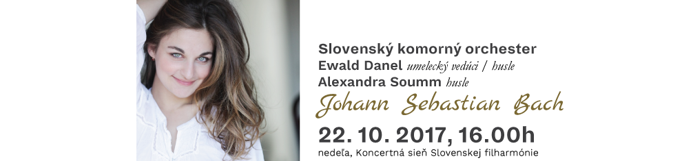 22. 10. 2017 SKO 1 Johann Sebastian Bach