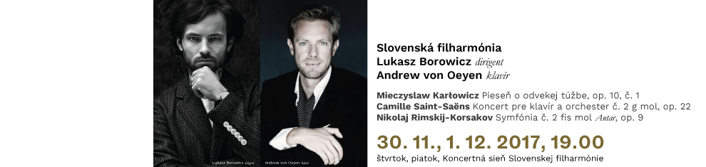 30. 11. 2017 Karłowicz Saint-Saëns Rimskij-Korsakov
