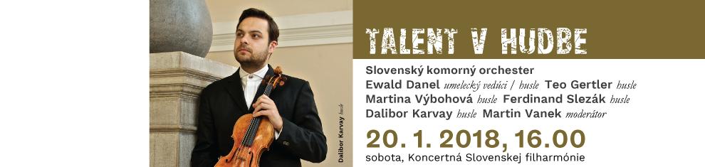 20. 01. 2018 Talent v hudbe