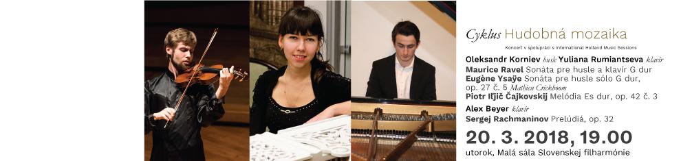 20. 3. 2018 HM6 Ravel Ysae Čajkovskij Rachmaninov