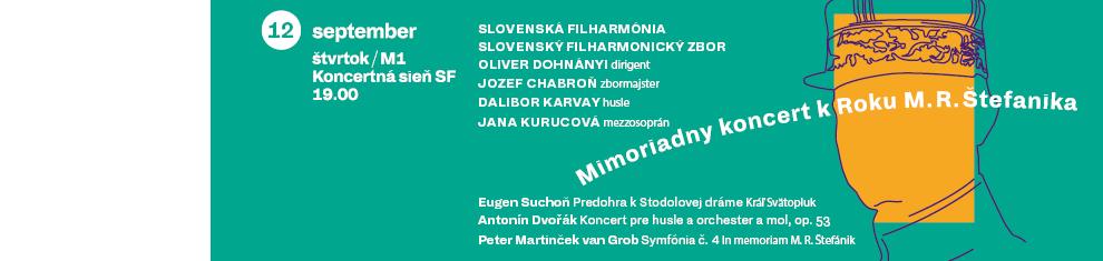 M01 Mimoriadny koncert k Roku Milana Rastislava Štefánika