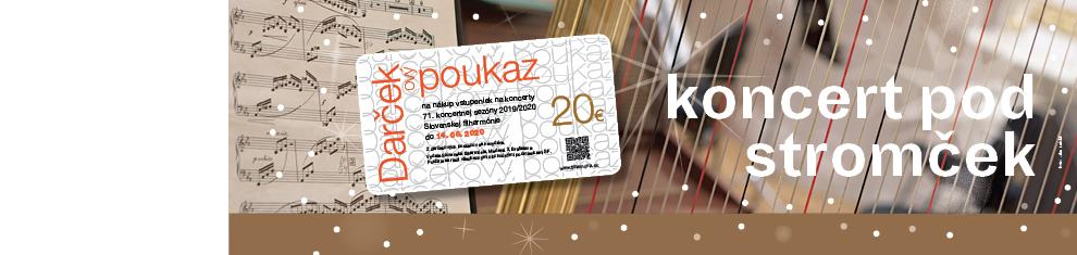 Vianočná poukážka Slovenskej filharmónie 2019