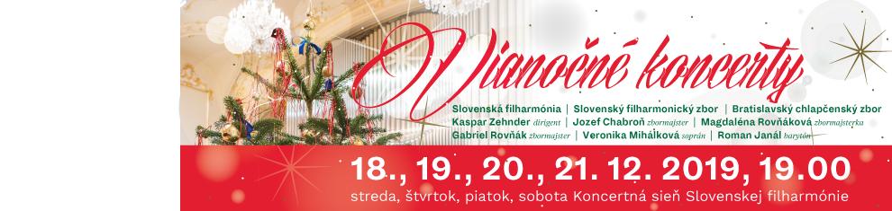 Vianočné koncerty Slovenská filharmónia 2019