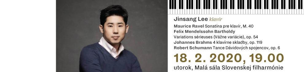 18 februára 2020 Klavírny recitál IV Jinsang Lee