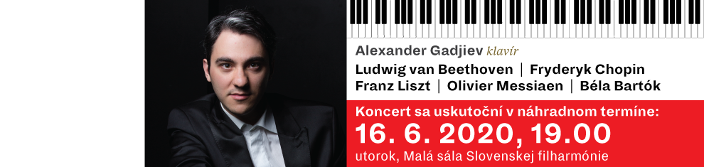 10 marca 2020 Klavírny recitál Alexander Gadjiev