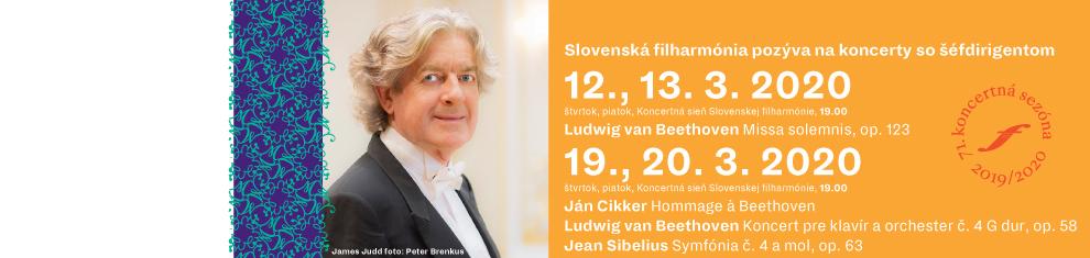 Slovenská filharmónia pozýva na koncerty so šéfdirigentom Jamesom Juddom v marci 2020