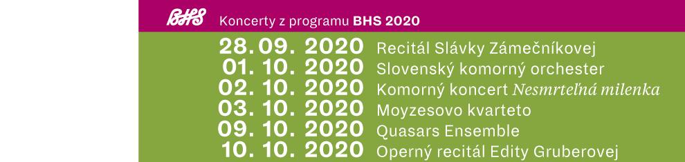 Koncerty z programu BHS 2020