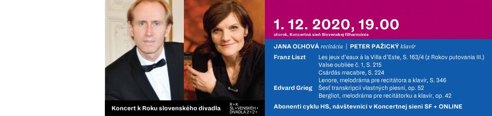 1. decembra 2020 Koncert k Roku slovenského divadla