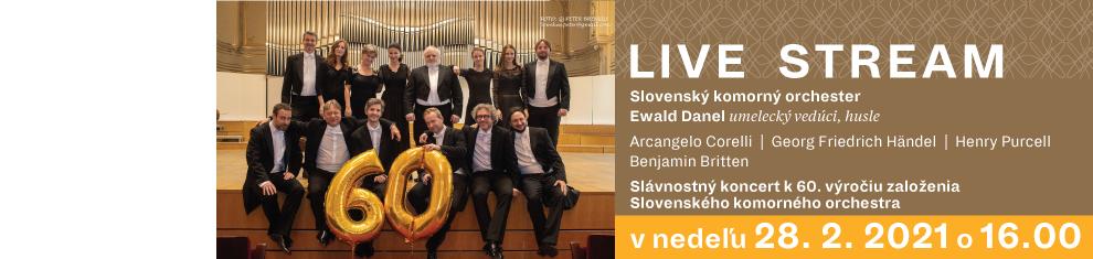 28. februára 2021 Slávnostný koncert k 60. výročiu založenia SKO