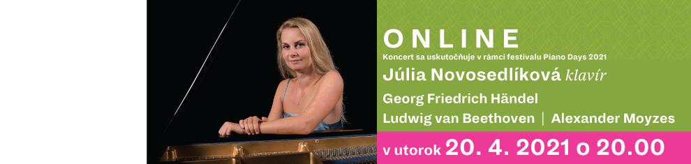 20 apríla 2021 Júlia Novosedlíková Online