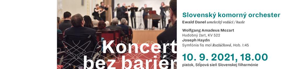 10. septembra 2021 Koncert bez bariér